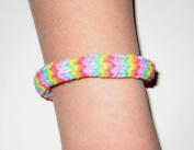 Rainbow Loom Bracelet- Rainbow Hexafish Pattern