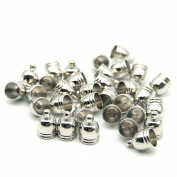 30 Pcs Decorative DIY Crafts Silver Bell Stainless Metal Tassel Bells