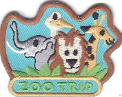 """""""ZOO TRIP"""" IRON ON EMBROIDERED PATCH - JUNGLE -WILD ANIMALS - BIRDS -FARM"""