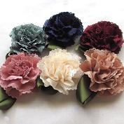 18pcs Fabric Ribbon Flowers Bows Appliques Craft Wedding Dec Bulk A0444