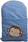 Baby Nap Mat (Blue with brown)