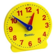 Toy / Game Learning Resources Big Time 12-Hour Student Clock - Grasp Time-Telling Skills Activity Guide & More