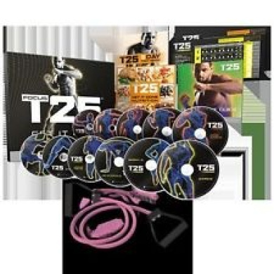 EXPRESS FROM SYDNEY SELLER| Focus T25 Workout Training DVD Set w Resistance Band | EXPRES SHIPPING VIA DHL OR FEDEX COURIER