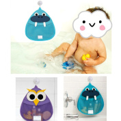 SwirlColor Cute Animal design Hippo Bath Toys Storage Organiser