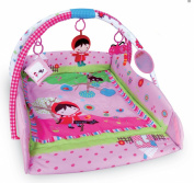 Large 110 x 110cm Light & Musical 4 in 1 Baby Activity Toy Play Mat Playmat Gym PINK GIRL
