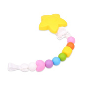 RioRand Teething Bracelet Ring Colourful - Fun and BPA-Free - Natural Molar Baby Teether - Toddler Pacifier Rattle - Organic Food Grade Silicone
