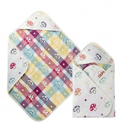 Natural Cotton gauze SOFT Baby Hooded Towel 6 layer 90cm *90cm in Perfect Gift