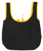 Buh kids Knitted Trolley Bag 100 Percent Organic Cotton B And W Mostaza Collection