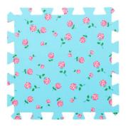 9 Pieces Of Crawling/Puzzle Foam Mats Kids & Baby Foam Play Mats-Blue