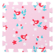 9 Pieces Of Crawling/Puzzle Foam Mats Kids & Baby Foam Play Mats-Pink