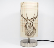Stag Lamp Light Lampshade Bedside Bedroom Table Desk Lamp Lamps Deer Antlers Trophy Woodland Highland