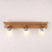 3 Lights LED Wooden Mirror Lights Lamp Creative Bedsides Wall Sconce Washroom Bathroom Wall Lamp Fixtures