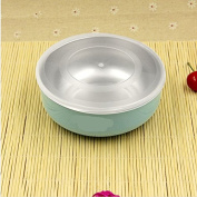 Baby bowl stainless steel tableware bilayer insulated anti - scald bowl,blue