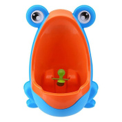 OneCreation Baby Boy Potty - Perfect Cute Frog Training Urinal for boys with Whirling Target - Making it Fun and Easy Stress Free to Potty - Blue