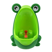 OneCreation Baby Boy Potty - Perfect Cute Frog Training Urinal for boys with Whirling Target - Making it Fun and Easy Stress Free to Potty - Green