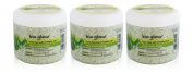3x Bio Glow ALOE VERA Face & Body Scrub Vitamin E and B5 UV Protection 300ml