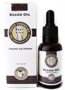 Beard Oil Viking Ice Storm 100% Natural & Organic by Sweyn Forkbeard - A Beard Softener and Deep Conditioner For Men