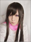 LanTing Noragami Iki Hiyori Brown Long Woman Cosplay Party Fashion Anime Wig