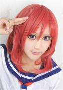 LanTing Love Live Maki Nishikino Red Short Woman Cosplay Party Fashion Anime Wig