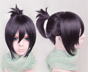 LanTing Noragami YATO Purple Bun Short Woman Cosplay Party Fashion Anime Wig