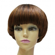 Capless Short Straight Full Bangs Bob Women Synthetic Hair Party Wig