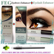 FEG Eyelash + Eyebrow Enhancer, Original Rapid Growth Serum 3ml + FREE BRUSH!!!