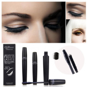 Malloom® 2pcs Qibest Makeup Eyelash Long Curling Fibre 3D Mascara Eye Lashes Extension.