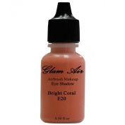 Airbrush Make up by Glam Air Large Bottle Airbrush E20 Coral Eye Shadow Water-Based Makeup