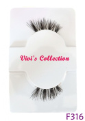 Vivi's Collection F316 Half Finest Eyelashes Black Corner False Fake Eye Lashes