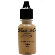 Glamair Large Bottle Airbrush Makeup Foundation Matte Finish M7 Warm Golden Beige Water-Based Makeup Long Lasting All Day Without Smearing Running, Fading Or Caking 15ml Bottle By