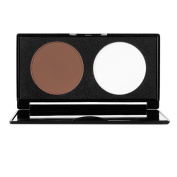 iBaste Professional Cosmetic 2 Colours Matte Contour Powder Palette For Highlighting and Contouring