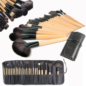 Wholesale Solutions Ltd - 24 Pcs Professional Make up Brush Set Foundation Brushes Kabuki Fan Brushes Case