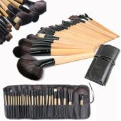 Wholesale Solutions Ltd - 24 Pcs Professional Make up Brush Set Foundation Brushes Kabuki Fan Brushes Case