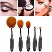 Koly 5PC Toothbrush Eyebrow Foundation Eyeliner Lip Oval Brushes Pro Cosmetic Makeup Set