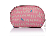 Pretty Pink Bird Print Cosmetic Makeup Bag