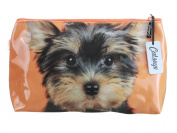Yorkie on Orange by Catseye London Jellycat Small Cosmetic Bag