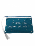 Petite Mendigote Women's Aude Woman's Cosmetic Bag In Green Colour 100% Cotton