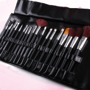 Reelva 8 pcs Makeup Tools Ladies Beauty Black Fashion Cosmetic Brushes Set & Case