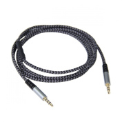 1.4m Replacement Audio Cable for Skullcandy Crusher AVIATOR 2.0 Headphone with Mic & Remote