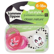 Tommy Tippee Closer to Nature Soothers Fun 6-18m