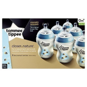 Tommee Tippee Closer to nature Blue Bottles x6