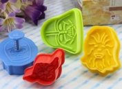 Demarkt Star Wars Cookie Cutters Plungers Set of 4 - Random Colours - Baking Kitchen