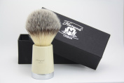 Synthetic Hair Shaving Brush Ivory Tapper Handle with Classical Box Presant