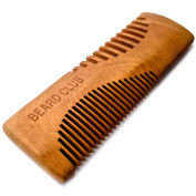 Luxury Wooden Beard Comb | Beard Club | The Best Beard & Moustache Comb for Men | Dual Purpose Teeth | A Great Pocket Comb | Handmade to the Highest Standard