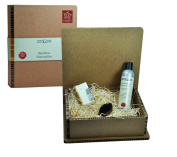 PfeiLring Gift Box 3 pieces Shave Shaving Oil 20 ml of Wild Boar Bristle Shaving Brush-ash and Beard shampoo 200 ml