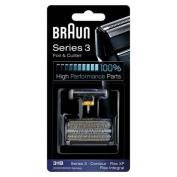 31B BRAUN 5000/6000 Series Contour Flex XP Integral Shaver Foil & Cutter Head Replacement Combi Pack Black by BRAUN