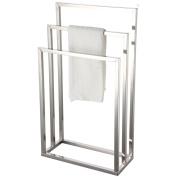 Bath Vida Three Tier Towel Holder Freestanding Bathroom Chrome Rail Rack, Metal