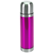 PURPLE STAINLESS STEEL METALLIC THERMOS FLASK 0.5L HOT COLD DRINKS TEA COFFEE