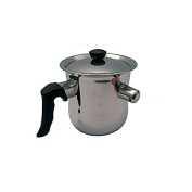 Shiny Stainless Steel 2.0 Litre Whistling Milk Cooking Pot Pan