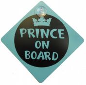 Prince on Board Child Safety includes 1 suction cup for your Car Vechicle Signs
